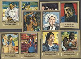 YEMEN Arab République Peinture: Painting, Impressionnistes. Yvert 192 + PA 82 Non Dentelé IMPERF. ** MNH.  Gauguin - Impressionisme