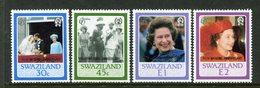 Swaziland 1987 Ruby Royal Wedding Set MNH (SG 537-540) - Swaziland (1968-...)