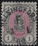 Finlande Coat Of Arms (FACIT) N°24a Gris Et Rose Obl Dateur De Helsingfors LUXE - 1856-1917 Administration Russe