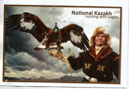National Kazakh Hunting With Eagles, Belle Carte Postale Adressée Andorra, Avec Timbre à Date Arrivée - Kazakhstan