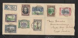 S.Rhodesia 50th Anniversary, Set, Registered GATOOMA12 JUN 40, SALISBURY Transit > E.London - Rhodésie Du Sud (...-1964)
