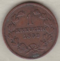 Grand-duché De Bade .  1 Kreuzer 1852 Leopold I. KM# 218 - Small Coins & Other Subdivisions