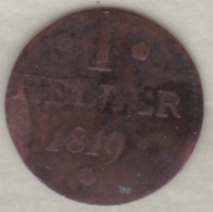 FRANKFURT AM MAIN . 1 Theler 1819 . KM# Tn5 - Small Coins & Other Subdivisions