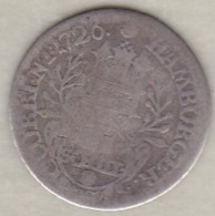 Hambourg . 2 Schilling 1726 . Karl VI . Argent . KM# 357 - Small Coins & Other Subdivisions