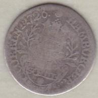 Hambourg . 2 Schilling 1726 . Karl VI . Argent . KM# 357 - [ 1] …-1871: Altdeutschland