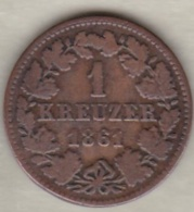 Nassau . 1 Kreuzer 1861 . Adolph . KM# 74 - Small Coins & Other Subdivisions