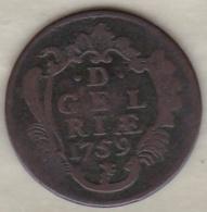 GELDERLAND .1 DUIT 1759. COPPER - [ 1] …-1795 : Oude Periode