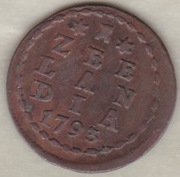 ZEELAND .1 DUIT 1793. COPPER - [ 1] …-1795 : Période Ancienne