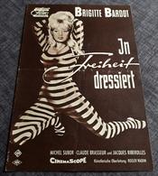 """Altes/Seltenes DNFP-Filmprogramm (8 S.) - BRIGITTE BARDOT In """"In Freiheit Dressiert"""" Mit Claude Brasseur ... - 181060 - Magazines"""