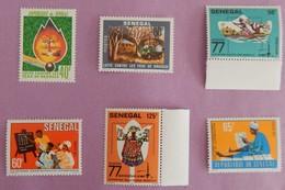 SENEGAL ANNEE 1977 NEUFS YT 464/469 - Sénégal (1960-...)
