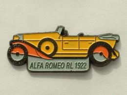 PIN'S ALFA ROMEO RL 1992 - JAUNE - Alfa Romeo