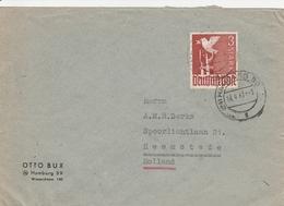 Allemagne Zone AAS Lettre Hamburg Pour La Hollande 1947 - Amerikaanse, Britse-en Russische Zone