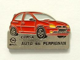 PIN'S OPEL CORSA - AUTO 66 PERPIGNAN - Opel