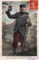 Soldat Ce Verre Je Le Bois Le Coeur Plein D'espérance En Portant La Santé De Notre Chère France Bouteille Champagne 1908 - Humoristiques