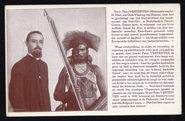 NETHERLANDS NEW GUINEA ** FATHER VERTENTEN ( Belgium Hamme ) WITH HIS FRIEND THE MAYOR OF NOH-OTIV - KAIA KAIA - RARE ! - Papouasie-Nouvelle-Guinée