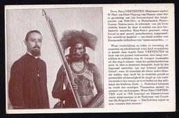 NETHERLANDS NEW GUINEA ** FATHER VERTENTEN ( Belgium Hamme ) WITH HIS FRIEND THE MAYOR OF NOH-OTIV - KAIA KAIA - RARE ! - Papua New Guinea