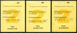 VIGNETTES AUTOMOBILES - 2002 -A3-A4 Et A5 - Fiscaux