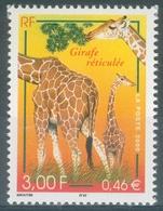 France, Reticulated Giraffe, 2000, MNH VF - France