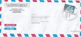LIC DANIEL CASCO L AIRMAIL SOBRE ENVELOPE CIRCULEE HONDURAS TO ARGENTINE YEAR 2004 - BLEUP - Honduras