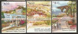 Israel 2008 Mi# 2001-2003 A ** MNH - With Tabs - Promenades - Israel