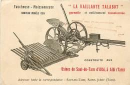 81 , ALBI , La Vaillante Talabot , Publicité Materiel Agricole , Saut Du Tarn St Juery , * 354 46 - Albi
