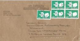 Tanzania 1990 Bonge Diamond Minerals Cover - Mineralen