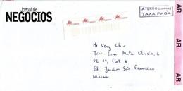 Macau 2000 Lisbon Meter Franking Postage Paid Unfranked Registered AR Cover - 1999-... Speciale Bestuurlijke Regio Van China