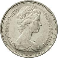 Monnaie, Grande-Bretagne, Elizabeth II, 5 New Pence, 1970, SUP, Copper-nickel - 1971-… : Monnaies Décimales