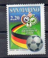 SAINT MARIN    Timbre Neuf ** De 2006   ( Ref 5581 ) Sport - Football - Saint-Marin