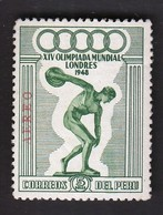 Peru / Olympic Games London 1948 / Athletics - Discus Thrower / Mi 460 / MNH - Verano 1948: Londres