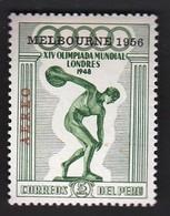 Peru / Olympic Games Melbourne 1956 / Athletics - Discus Thrower / Mi 549 / MNH - Verano 1956: Melbourne
