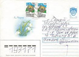 Uzbekistan 1993 Flag Postal Stationary Cover - Oezbekistan