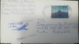 O) 1991 GUATEMALA, AMERICA UPAEP - LAKE ATITLAN. LANDSCAPE . SCOTT C841 -AIRMAIL TO FINLAND, XF - Guatemala