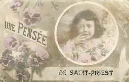 63 , ST PRIEST DES CHAMPS , Une Pensée , * 356 09 - France