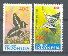 Mgm1357 FAUNA VLINDERS BUTTERFLIES SCHMETTERLINGE MARIPOSAS PAPILLONS INDONESIA 1988 PF/MNH - Vlinders