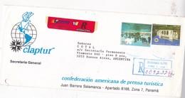 CLAPTUR SOBRE ENVELOPE CIRCULEE PANAMA TO ARGENTINE RECOMMANDE CIRCA 2000's- BLEUP - Panama