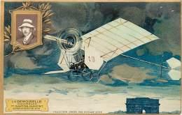 AVIATION , Collection Lefevre Utile , Carte Gaufrée , Demoiselle De Santos Dumont , * 358 18 - Aviateurs