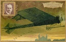 AVIATION , Collection Lefevre Utile , Carte Gaufrée , L'Antoinette De Henri Demanest , * 358 20 - Aviateurs