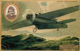 AVIATION , Collection Lefevre Utile , Carte Gaufrée , Robert Esnault Pelterie , * 358 23 - Aviateurs