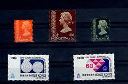 Set Of 5 Mint Stamps Hong Kong NO Wmk Checked Out - Hong Kong (...-1997)
