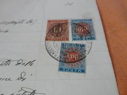 MARCHE CATASTALI LIRE 1,LIRA 0,10,LIRE 0,05 - 1893 - Steuermarken