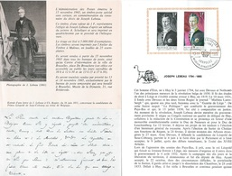 België  O.B.C.  Postfolder  Nr 18  1965     1351     Joseph Lebeau   Brussel-Bruxelles   (franstalig) - Documents De La Poste