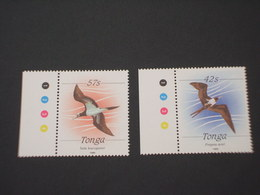 TONGA - 1988 UCCELLI 2 VALORI - NUOVI(++) - Tonga (1970-...)