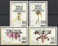 VA 1993-910-3 FLORA, VANUATU, 1 X 4v, MNH - Orchideen