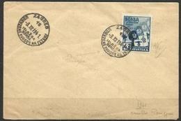 1941 Croazia Croatia Hrvatsk CROCIATA ANTIBOLSCEVICA 4+2L. Azzurro Mich.69 Su Busta Zagabria 3/12/41 - Croazia