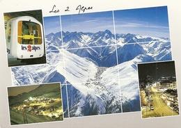 38. CPM. Isère. Les Deux Alpes. Vue Aérienne De La Station Et Du Massif De L'Oisans, La Muzelle, Le Dôme-Express - France