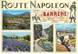 04 - BARREME : ROUTE NAPOLEON Carte Géographique Et Multivues - CPSM CPM GF - Alpes De Haute Provence - Frankrijk