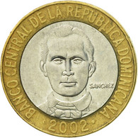 Monnaie, Dominican Republic, 5 Pesos, 2002, TTB+, Bi-Metallic, KM:89 - Dominicaine