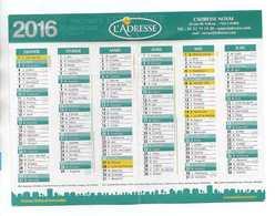 CALENDRIER 2016 L'ADRESSE  Réseau National Immobilier - Calendars