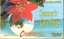 Cayman Island - CAY-4A, GPT, 4CCIA, Seasons Greetings (Blue New Logo), Christmas, 7.50 $, 10.000ex, 1992, Used - Cayman Islands